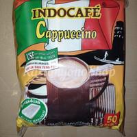 Kopi Indocafe Cappuccino Capucino Sachet Per Pak isi 50 bks