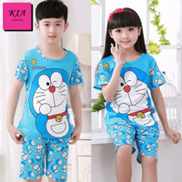 Baju Anak-Anak Motif Doraemon Umur 3-9 tahun Unisex