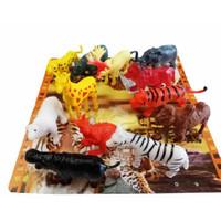 Mainan Set Miniatur Wild Animal Mini isi 12 pcs