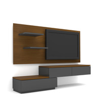Case TV Cabinet Wall Panel PCI003-01-WP1808-HS Rosewood – Dark Grey