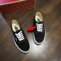 Sepatu Vans Authentic Classic Black White 100% Original