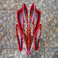 stiker striping motor mio sporty 2011 merah