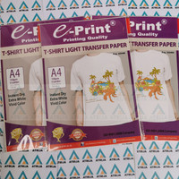 T-Shirt Light Transfer Paper EPrint- Kertas Print Sablon Putih A4