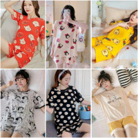 Setelan Baju Tidur Import Celana Pendek