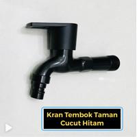 """Kran Air Tembok 1/2 Inch Keran Dinding Taman 1/2"""" / Engkol Hitam"""