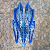 stiker striping motor mio sporty 2011 biru