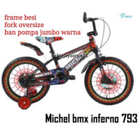 Sepeda BMX 18 Michel Inferno (anak usia 5-8 tahun) ban jumbo 3.0