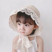 Lace Straw Caps - Topi Jerami Anak & Dewasa | Korea Lace Hat
