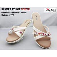 Sandal Wanita Original X-Time Sakura Kokop - White, 36