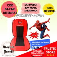 Sandaran Alas Bantal Jok Kursi Mobil Karakter Spiderman Universal