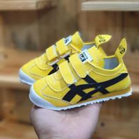 sepatu anak asics tiger kids yellow black white murah