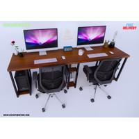 Meja Komputer kantor untuk 2 orang