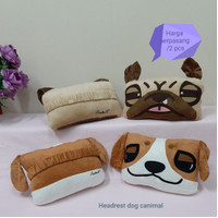 Bantal kepala mobil karakter Dog Line Angry Bird import original