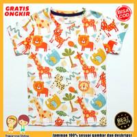 Baju Anak Fullprint Kaos Anak Laki-Laki Motif Jerapah Macan 0-7 Tahun