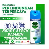 READY STOCK DETTOL DISINFECTANT SPRAY 450 ML - Biru