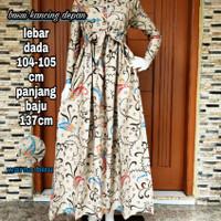 gamis batik asli Pekalongan motif angsa