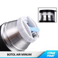 Botol Minum Termos Air Panas / Dingin Thermos Travel Stainless + Cups
