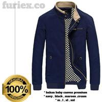 Jaket pria keren Furiex moodly simple bahan baby canvas premium