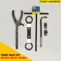 Paket Kunci CVT Motor Matic Honda Treker Kunci CVT T8 Sok 19 & 22 MM
