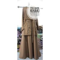 Baju Seragam ASN Wanita Warna Khaki / Dress Baju PNS PDH DINAS Ori