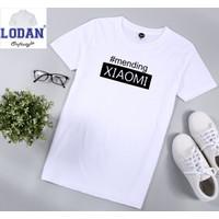 Kaos Distro Pria #MENDING XIAOMI /Tshirt Pria / 100% Cotton Combed 30s - Putih, S