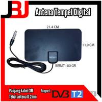 Antena TV indoor Digital Tempel Dinding DVBT2 | Antene Dalam TV