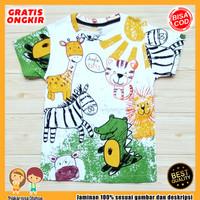 Baju Anak Fullprint Kaos / Baju Anak Laki-Laki Zebra Macan 0-7 Tahun