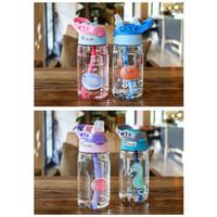 L315 Botol Air Minum Anak Sedotan Motif Animal Sea Country 480ML