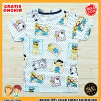 Baju Anak Fullprint Baju Anak / Kaos Anak Lelaki Snoopi Botak 0-7 Thn