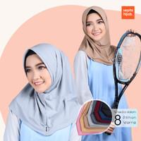 Jilbab Hijab Kerudung Olahraga Sport Voli Gowes Senam Jogging Tennis