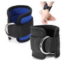 Ankle Strap D Ring Fitnes Leg Workout Latihan Kaki Fitness - Biru, SATUAN