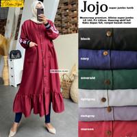 baju atasan jojo super jumbo long tunik muslim wanita simple trendy
