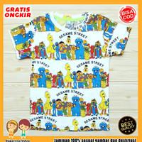 Baju Anak Fullprint Baju Anak / Kaos Anak Lelaki Sesama Street 0-7 Thn