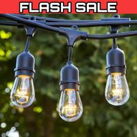 Kabel fitting lampu cafe gantung 5 meter 10 fiting filamen 10m outdoor