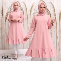 Baju muslim wanita original tunik kaos import / Baju tunik jumbo new