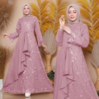 Baju Gamis Brukat Wanita Terbaru Zolana Dress Baju Dress Muslim Wanita