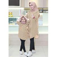 couple Mom kids Stripe/baju couple/fashion couple/baju couple ibu anak