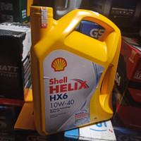 Shell Helix Oli Shell HX6 SAE 10W/40 Galon Isi 4L 100% Asli Original