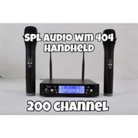 Spl audio wm 404 - 2 mic wireless handheld - 200 ch - part komplit