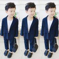 SB - Set Jayz Navy / baju setelan jas anak laki-laki usia 4-5 tahun