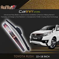 Raiton Sepasang Wiper Frameless Kaca Depan Toyota Rush 22 & 18