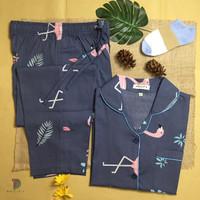 Pacify Baju Tidur dan Piyama Wanita Theme Grey Flaminggo