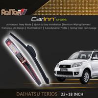 Raiton Sepasang Wiper Frameless Kaca Depan Daihatsu Terios 22 & 18