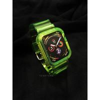 Strap Apple Watch Custom Lime Green Seri 1 2 3 4 5 iWatch Size 38/40