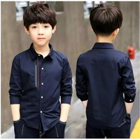 Baju Kemeja Anak Laki-Laki Cowok Lengan Panjang Katun Umur 3-10 th