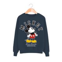 Baju Wanita Kaos Sweater Lengan Panjang MICKEY MOUSE DANCING