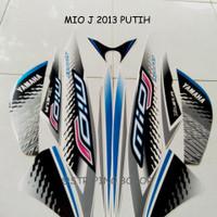 Sticker Striping Motor Yamaha Mio J Sporty 2013 Warna Putih