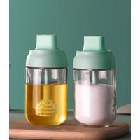 IDEA BOX Botol Kaca Tempat Bumbu minyak honey Kitchen Seasoning Pot