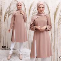 Baju muslim tunik kaos original tunik wanita casual dan formal new