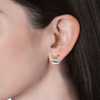 Poppy Ribbon Earrings - Anting Crystal by Her Jewellery - White Gold